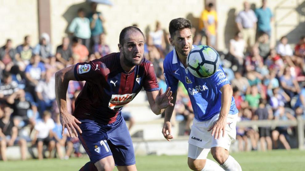 Kike García durante un partido de pretemporada