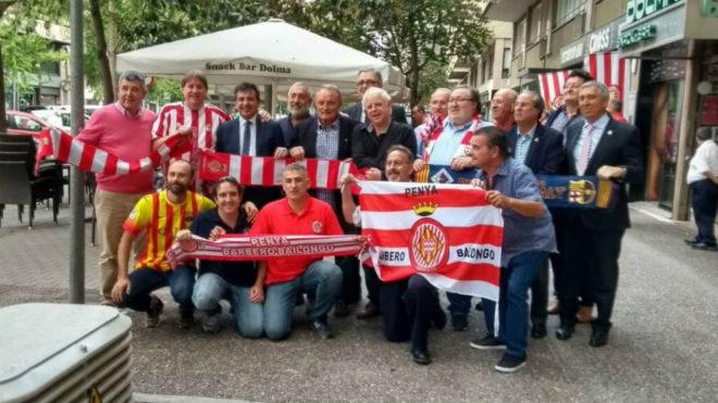 Hermanamiento entre las aficiones del Girona FC y el FC Barcelona