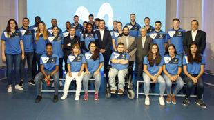 Foto de familia de la presentación del Movistar Estudiantes.