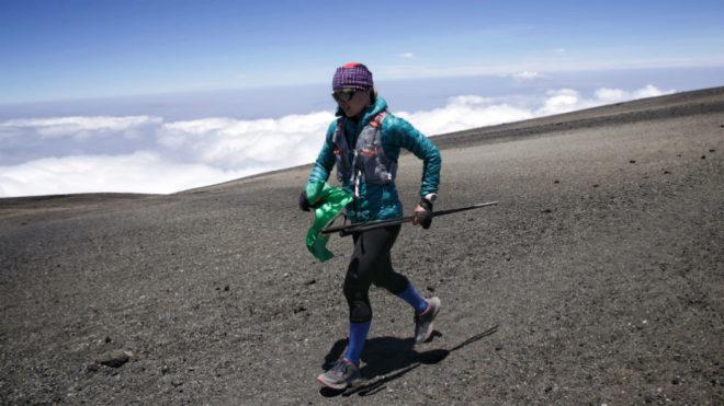 Fernanda Maciel, en el Kilimanjaro.