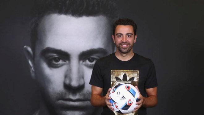 Xavi Hernández un acto promocional.