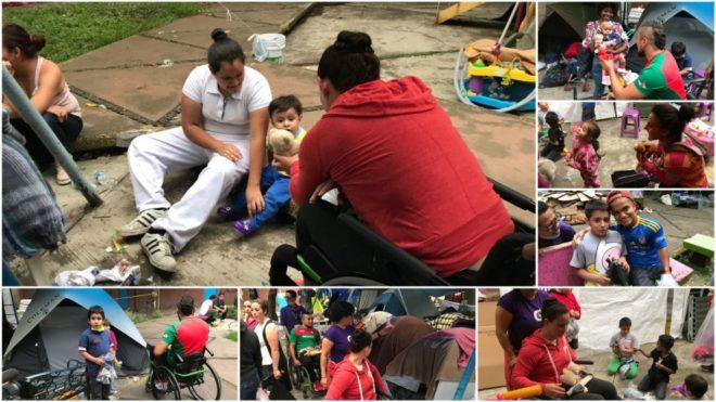 Los deportistas paralímpicos mexicanos ayudando a las víctimas del...