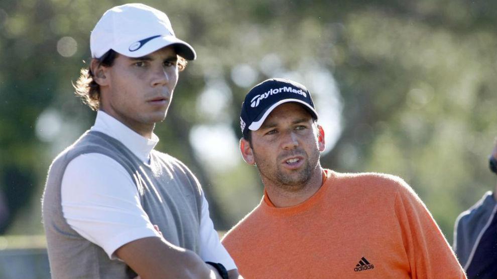 Rafa Nadal y Sergio García.