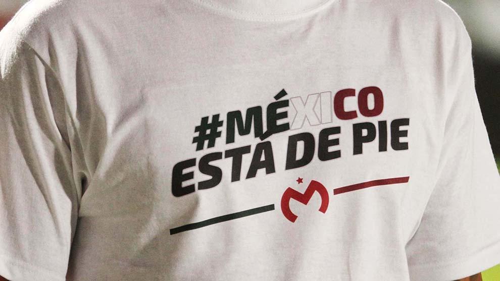 Los equipos de la Liga MX muestran su solidaridad con México.