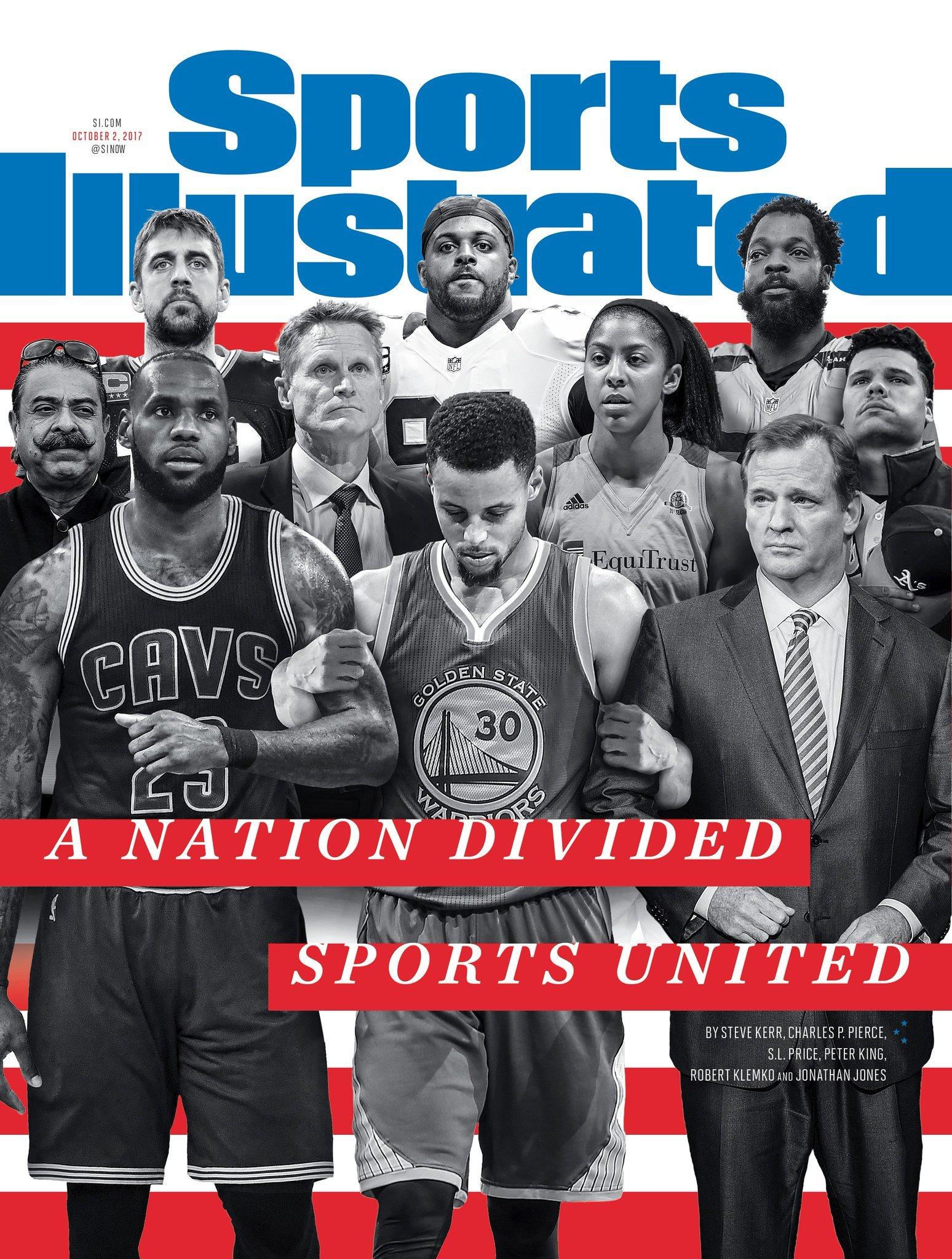 """Portada de la revista Sports Illustrated: """"Una nación dividida,..."""
