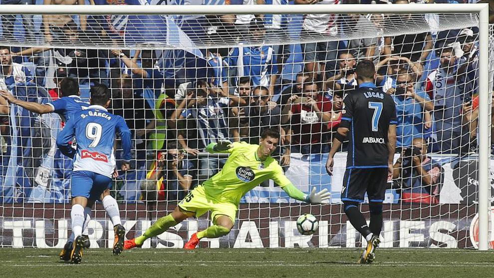 Pantilimon durante el partido frente al Espanyol