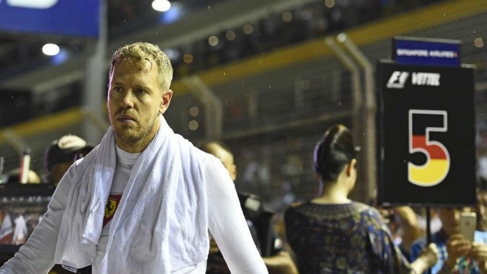 Sebastian Vettel, en Singapur