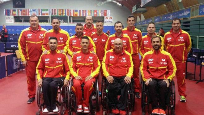 El equipo paralímpico español de tenis de mesa.