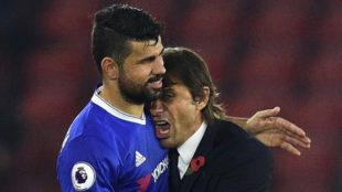 Costa y Conte, en el Chelsea.