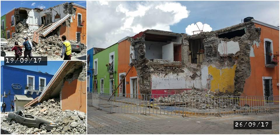 Imágenes de Atlixco el mismo día del terremoto y días después.