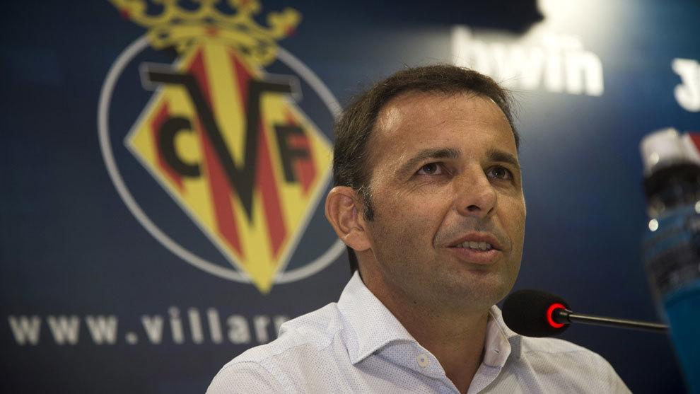 Calleja en rueda de prensa del Villarreal.