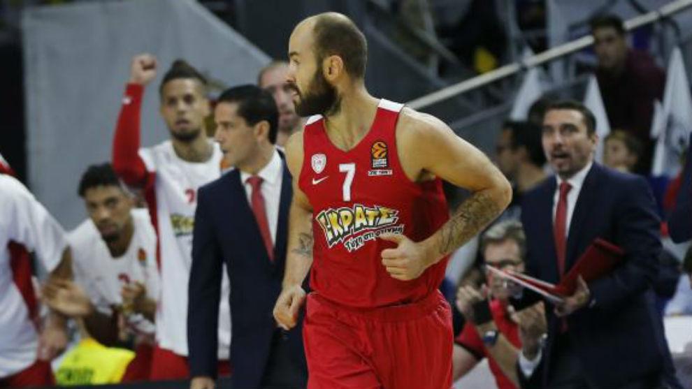 Vassilis Spanoulis, en un partido de la temporada pasada.