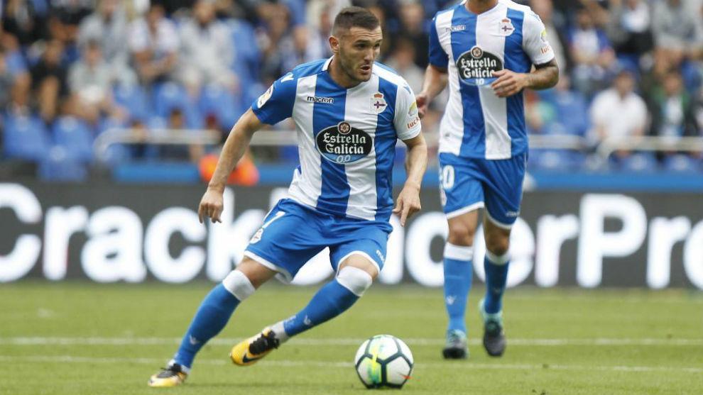 Lucas Pérez (29), durante un partido.