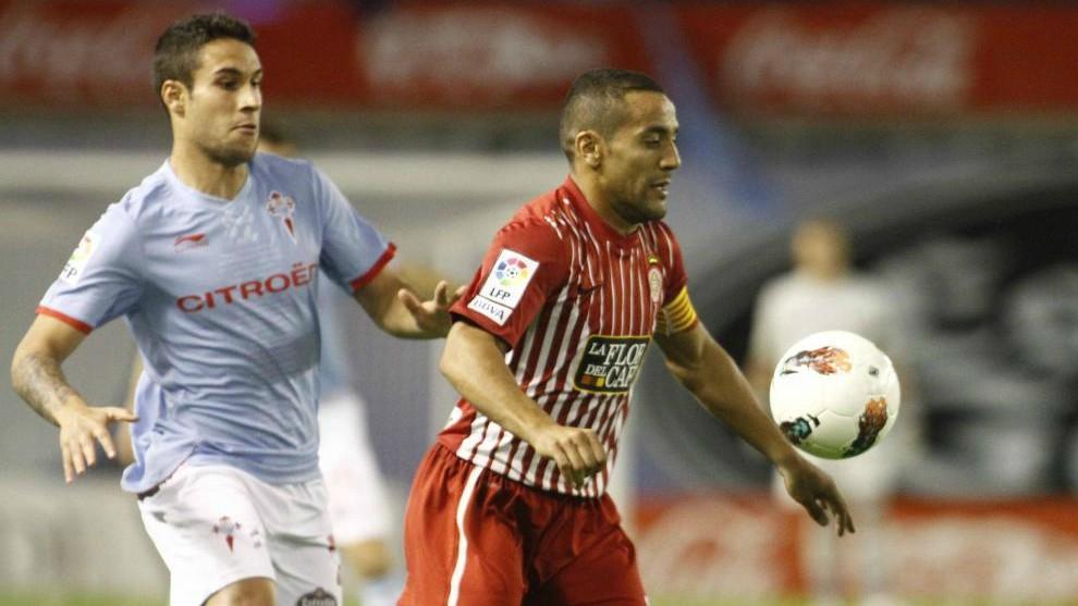 Hugo Mallo y Moha durante el último enfrentamiento entre Celta y...