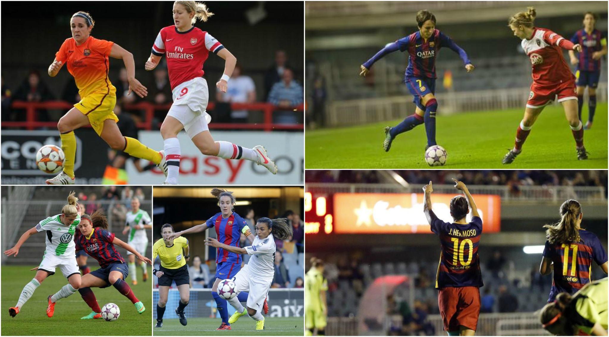 Cinco ediciones del Barcelona en la Women's Champions League.