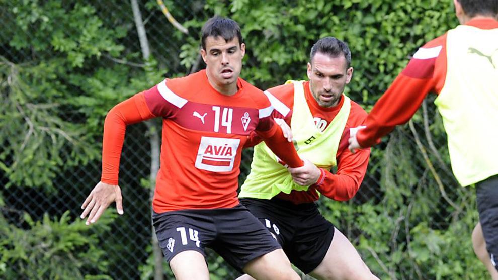 Arbilla y Dani García durante una sesión de entrenamiento