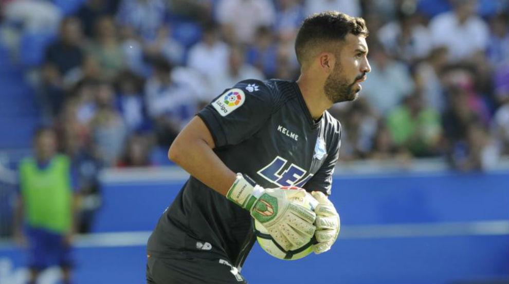 Pacheco durante un partido de esta temporada.