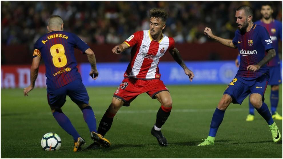 Aleix García, en el partido ante el Barcelona