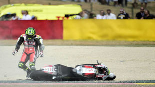 Crutchlow, ca�do en Arag�n.