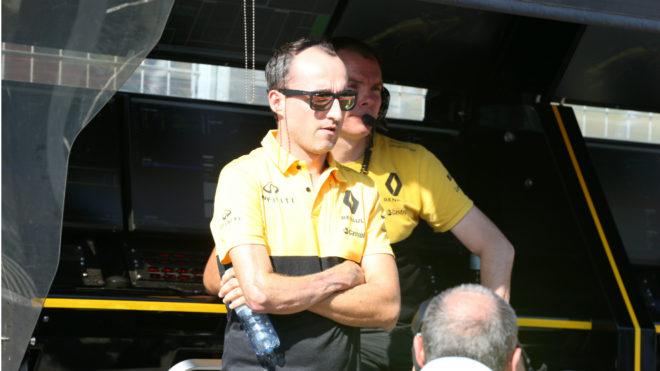 Kubica, durante el test de Hungría.