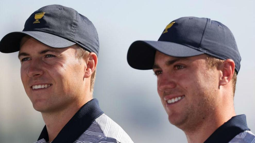 Jordan Spieth y Justin Thomas, componentes del equipo estadounidense.