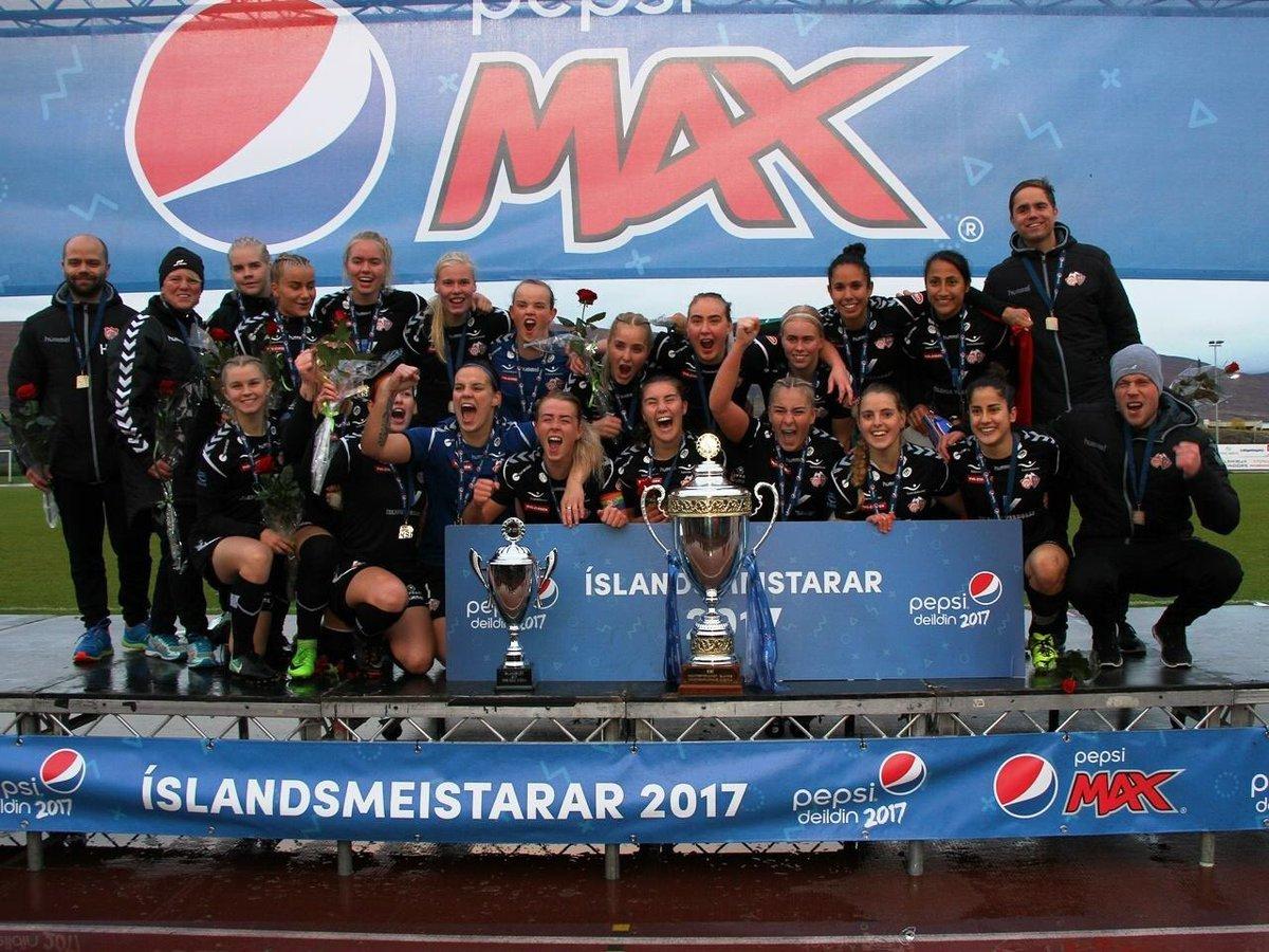 Thor / KA, campeonas del fútbol de Islandia.