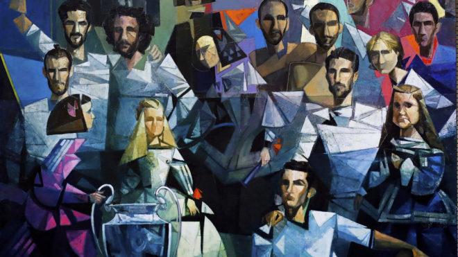 Exposición de pintura en el palco de honor del Real Madrid