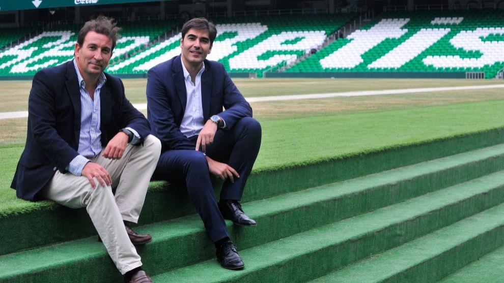 Catalán y Haro, en el estadio