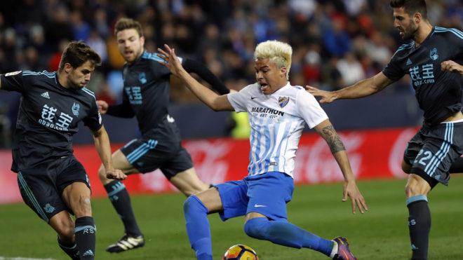 Peñaranda, en un partido ante la Real Sociedad