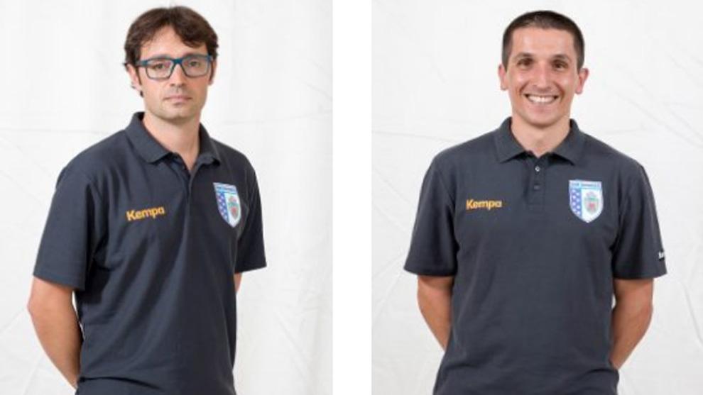 El técnico Pau Campos y su ayudante Xavier Salvador