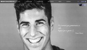 Pagina web oficial de Marco Asensio.