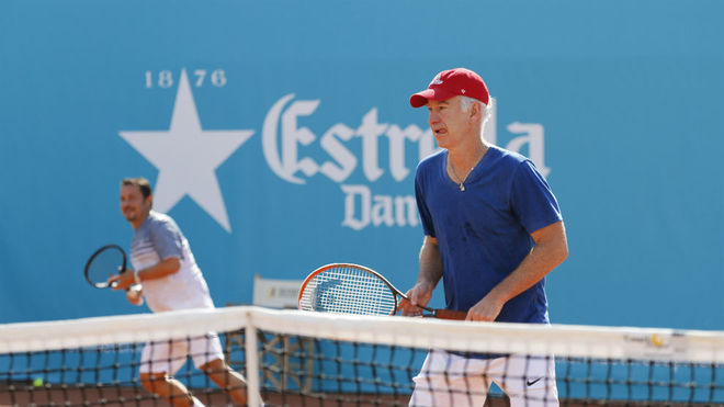John McEnroe (58), durante un partido en las instalaciones del Club de...