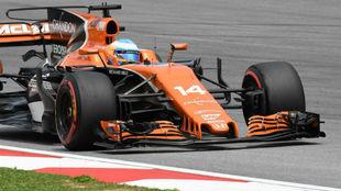 Fernando Alonso, en el circuito de Sepang