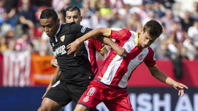 Pere Pons, contra el Sevilla.
