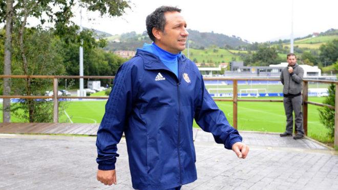 Eusebio, tras un entrenamiento.