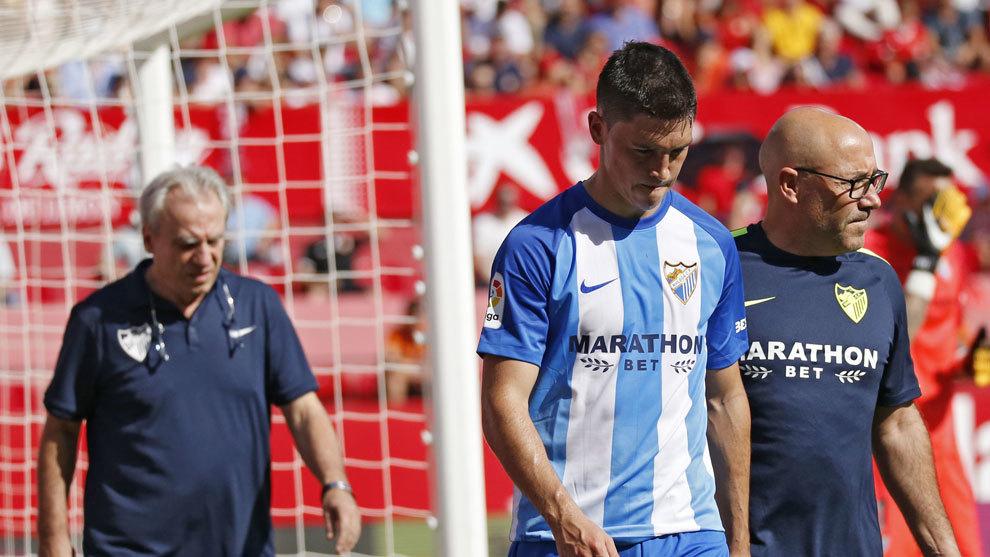Ricca sale lesionado del partido ante el Sevilla