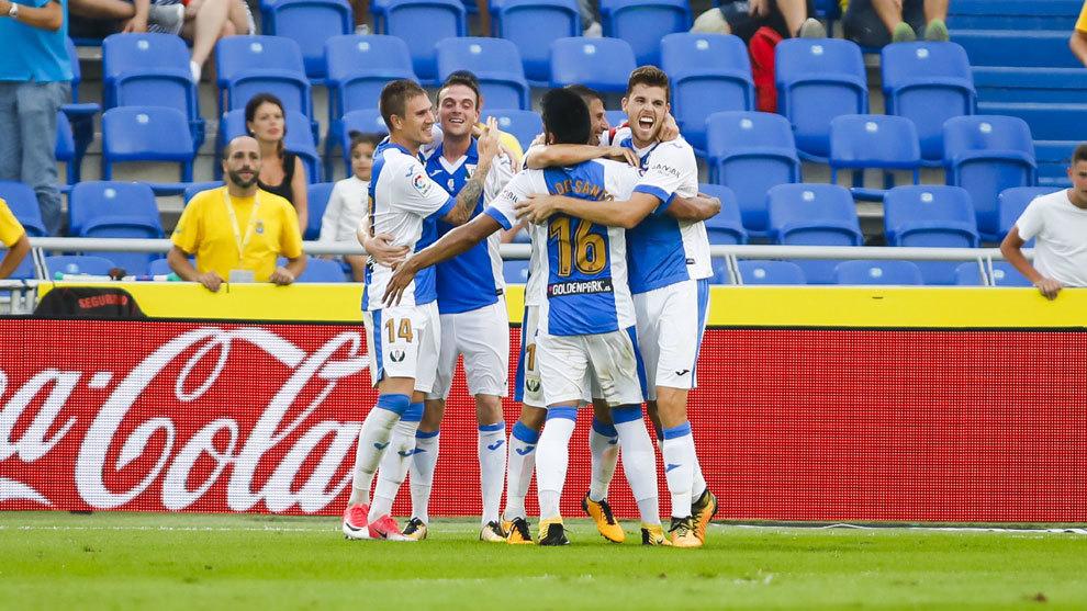 Eraso celebra un gol del Leganés ante Las Palmas