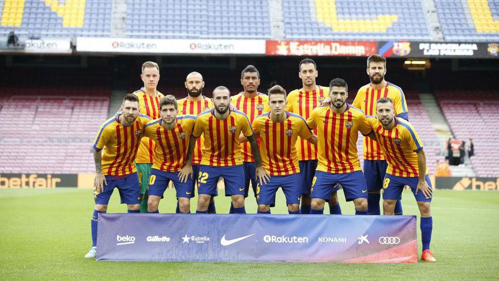 Los once del Barça que saltaron al Camp Nou