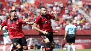 El Mallorca celebra un gol en esta temporada
