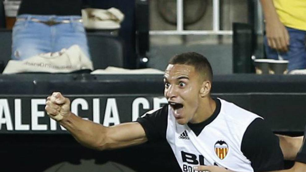 Rodrigo celebra su gol contra el Athletic.