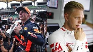 Verstappen y Magnussen, en Malasia