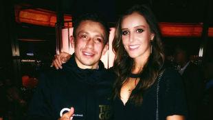 Laura Robson posa junto al boxeador Gennady Golovkin en un Casino de...