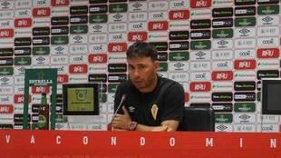 Manolo Sanlúcar, en una rueda de prensa