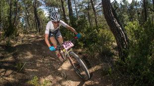 Claudia Galicia, en la primera etapa de la Catalunya Bike Race.