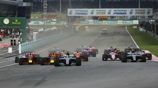 La salida del GP de Malasia