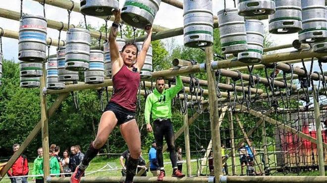 Lorena González, durante una de las pruebas del circuito de Strong...