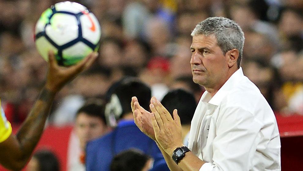 Manolo Márquez, en el partido entre el Sevilla y Las Palmas