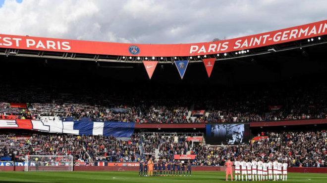 El Parque de los Príncipes, antes del PSG-Girondins.