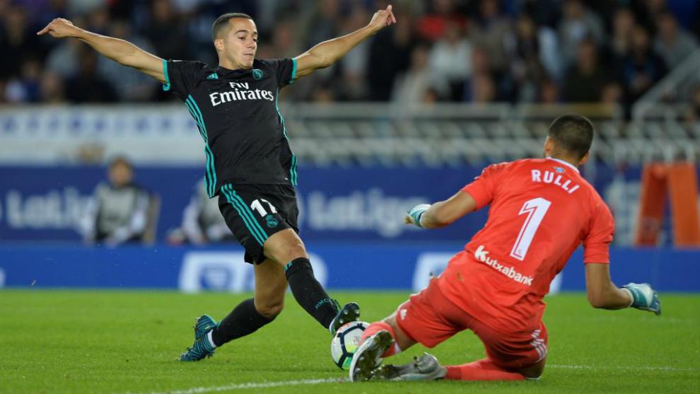 Rulli, ante el Real Madrid.