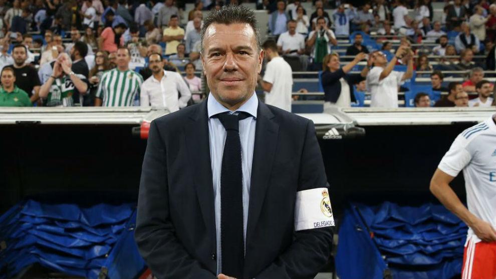 Megía Dávila en un partido del Bernabéu.